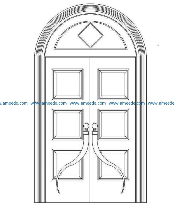 Design pattern door E0009112 file cdr and dxf free vector download for Laser cut CNC