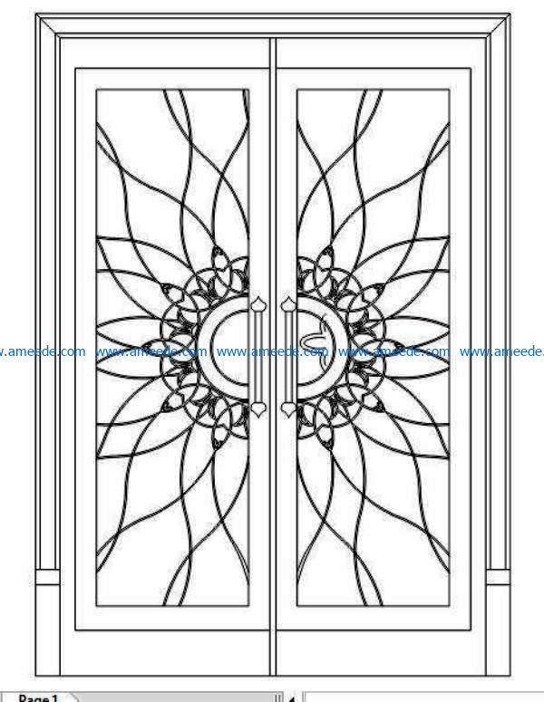 Design pattern door E0009113 file cdr and dxf free vector download for Laser cut CNC