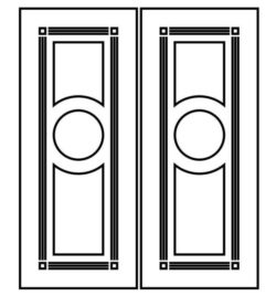 Design pattern door E0009304 file cdr and dxf free vector download for Laser cut CNC