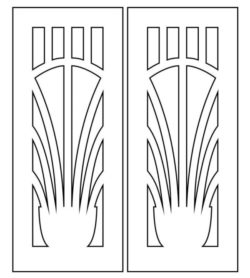 Design pattern door E0009305 file cdr and dxf free vector download for Laser cut CNC