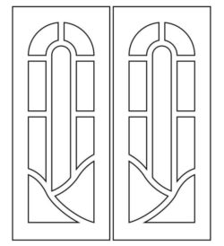 Design pattern door E0009306 file cdr and dxf free vector download for Laser cut CNC