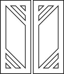 Design pattern door E0009392 file cdr and dxf free vector download for Laser cut CNC