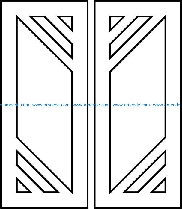 Design pattern door E00093092 file cdr and dxf free vector download for Laser cut CNC