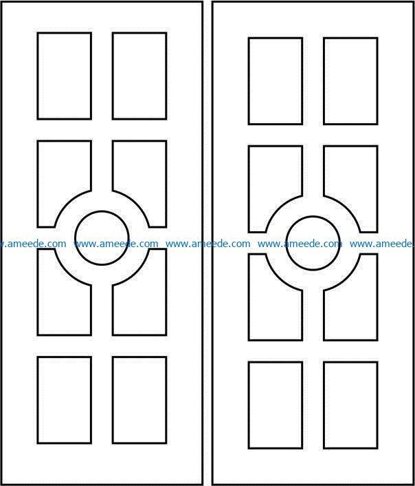 Design pattern door E0009349 file cdr and dxf free vector download for Laser cut CNC