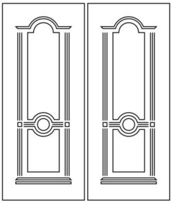 Design pattern door E0009350 file cdr and dxf free vector download for Laser cut CNC