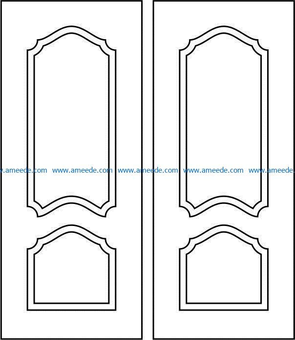 Design pattern door E0009393 file cdr and dxf free vector download for Laser cut CNC