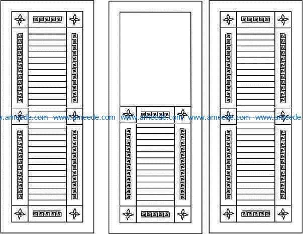 Design pattern door E0009423 file cdr and dxf free vector download for Laser cut CNC