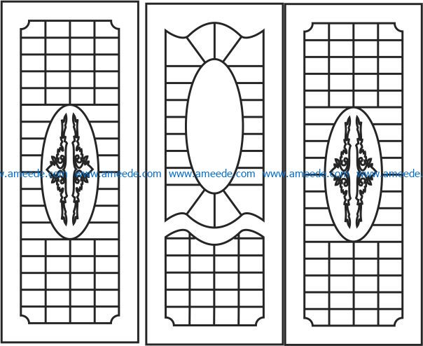 Design pattern door E0009424 file cdr and dxf free vector download for Laser cut CNC