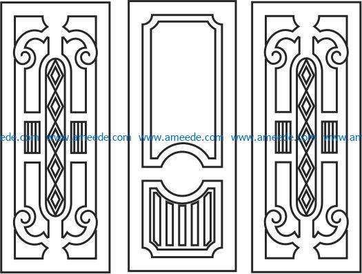 Design pattern door E0009425 file cdr and dxf free vector download for Laser cut CNC