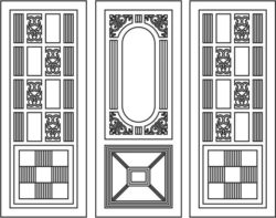 Design pattern door E0009426 file cdr and dxf free vector download for Laser cut CNC