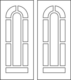 Design pattern door E0009506 file cdr and dxf free vector download for Laser cut CNC