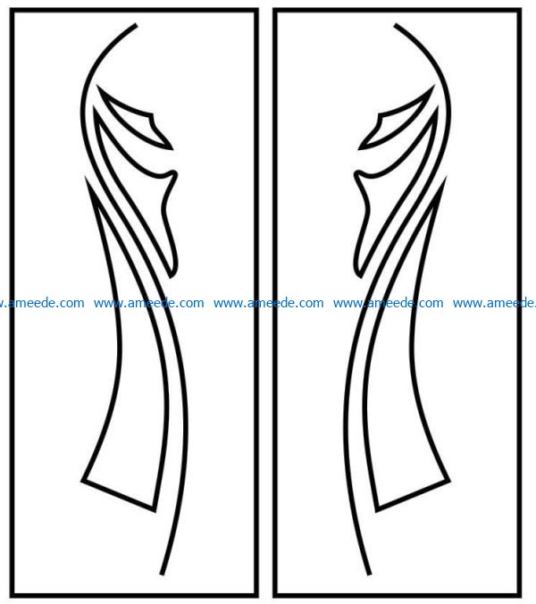 Design pattern door E0009507 file cdr and dxf free vector download for Laser cut CNC