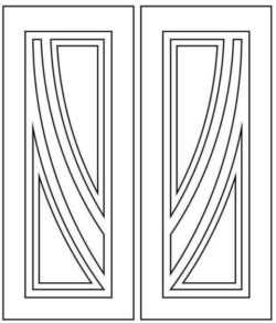 Design pattern door E0009508 file cdr and dxf free vector download for Laser cut CNC