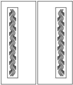 Design pattern door E0009509 file cdr and dxf free vector download for Laser cut CNC