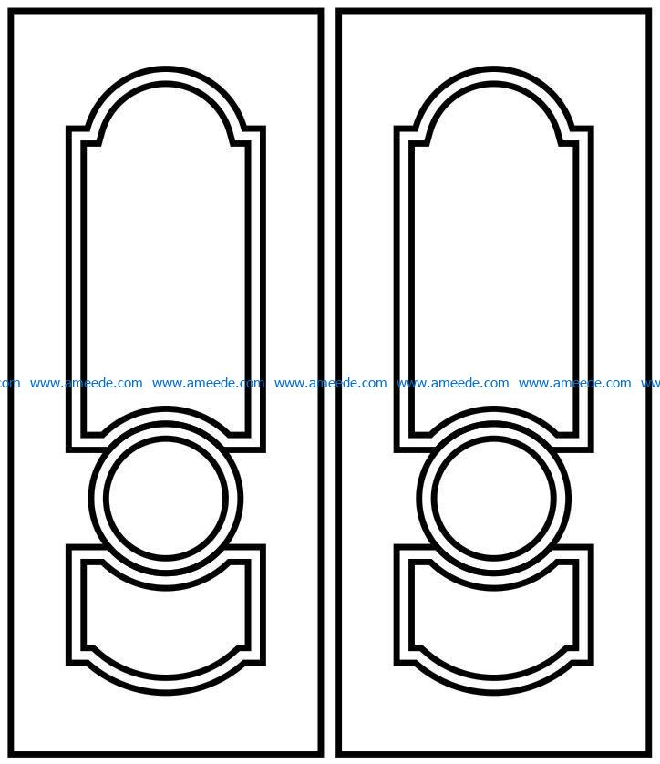 Design pattern door E0009551 file cdr and dxf free vector download for Laser cut CNC