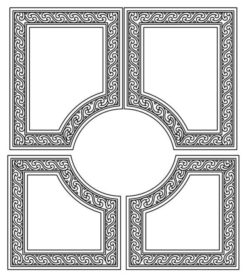 Design pattern door E0009593 file cdr and dxf free vector download for Laser cut CNC