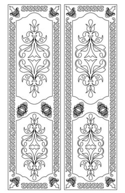 Design pattern door E0009594 file cdr and dxf free vector download for Laser cut CNC