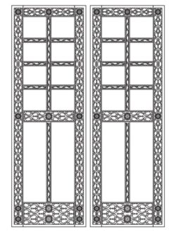 Design pattern door E0009595 file cdr and dxf free vector download for Laser cut CNC