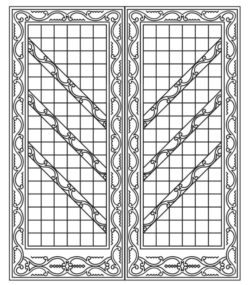 Design pattern door E0009596 file cdr and dxf free vector download for Laser cut CNC