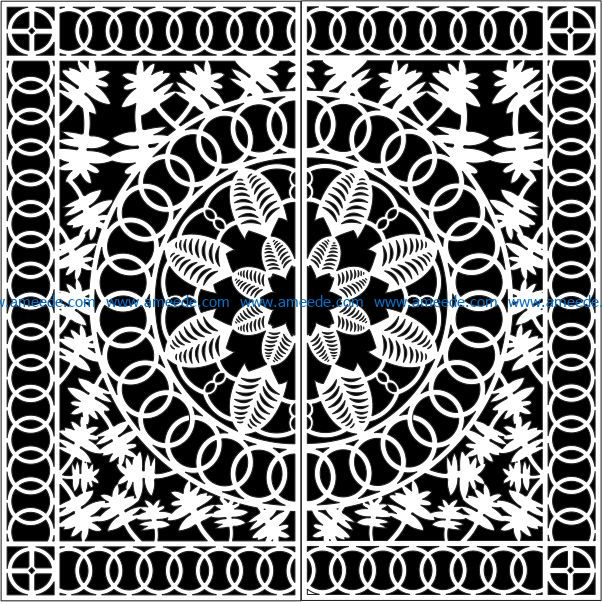 Design pattern gate E0009076 file cdr and dxf free vector download for Laser cut CNC