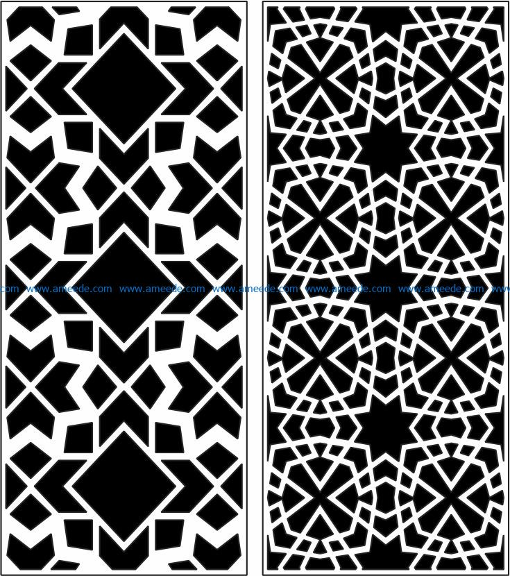 Design pattern panel screen E0009074 file cdr and dxf free vector download for Laser cut CNC