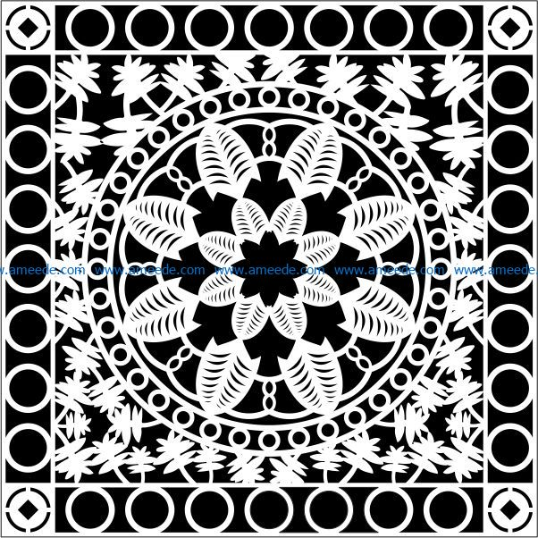 Design pattern panel screen E0009077 file cdr and dxf free vector download for Laser cut CNC