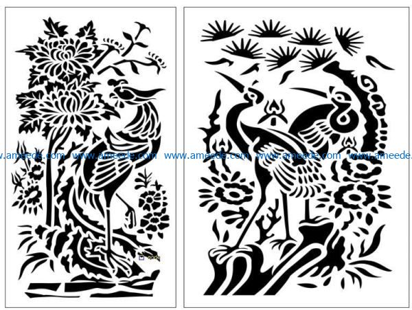 Design pattern panel screen E0009107 file cdr and dxf free vector download for Laser cut CNC