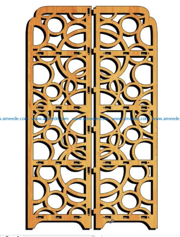 Design pattern panel screen E0009114 file cdr and dxf free vector download for Laser cut CNC