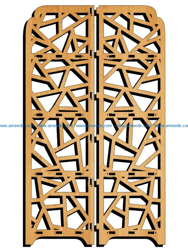 Design pattern panel screen E0009115 file cdr and dxf free vector download for Laser cut CNC