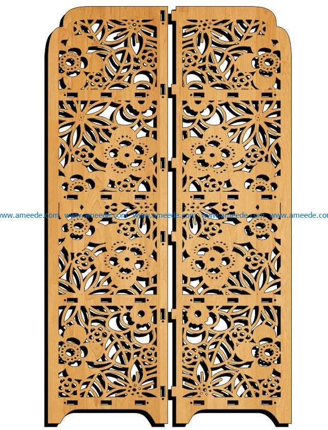 Design pattern panel screen E0009116 file cdr and dxf free vector download for Laser cut CNC