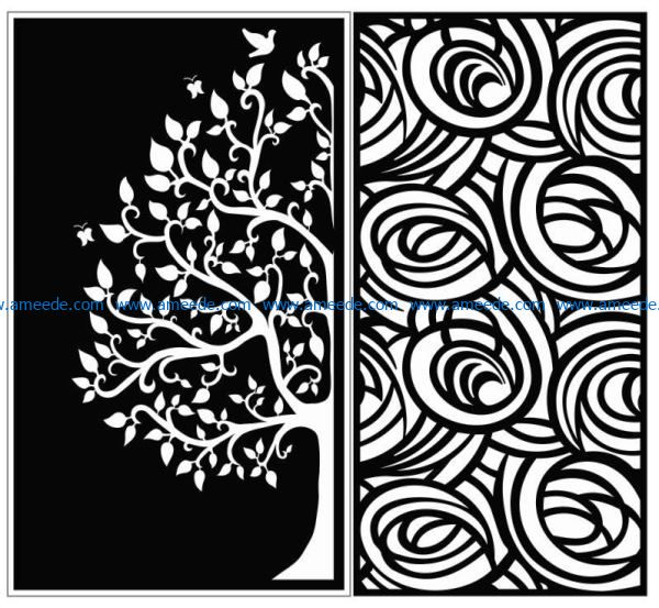 Design pattern panel screen E0009130 file cdr and dxf free vector download for Laser cut CNC