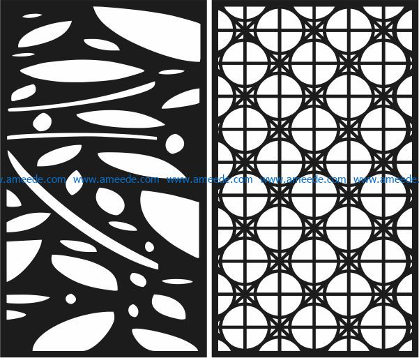 Design pattern panel screen E0009131 file cdr and dxf free vector download for Laser cut CNC