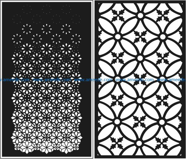 Design pattern panel screen E0009132 file cdr and dxf free vector download for Laser cut CNC