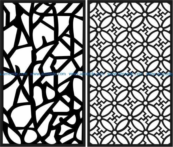 Design pattern panel screen E0009133 file cdr and dxf free vector download for Laser cut CNC