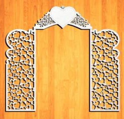 Design pattern wedding gate E0009160 file cdr and dxf free vector download for Laser cut CNC
