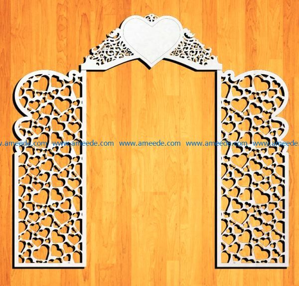 Design pattern panel screen E0009160 file cdr and dxf free vector download for Laser cut CNC