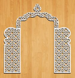 Design pattern wedding gate E0009161 file cdr and dxf free vector download for Laser cut CNC