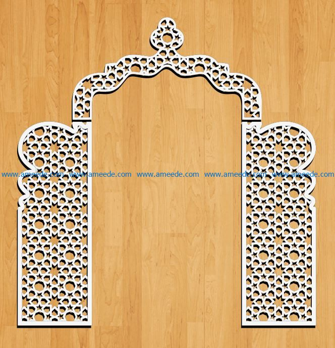 Design pattern panel screen E0009161 file cdr and dxf free vector download for Laser cut CNC