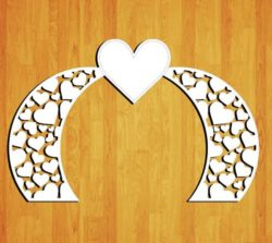 Design pattern wedding gate E0009162 file cdr and dxf free vector download for Laser cut CNC