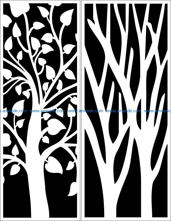 Design pattern panel screen E0009164 file cdr and dxf free vector download for Laser cut CNC