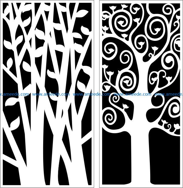 Design pattern panel screen E0009166 file cdr and dxf free vector download for Laser cut CNC
