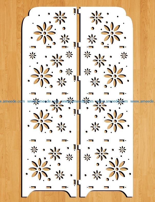 Design pattern panel screen E0009195 file cdr and dxf free vector download for Laser cut CNC