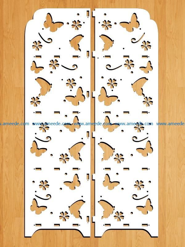Design pattern panel screen E0009196 file cdr and dxf free vector download for Laser cut CNC
