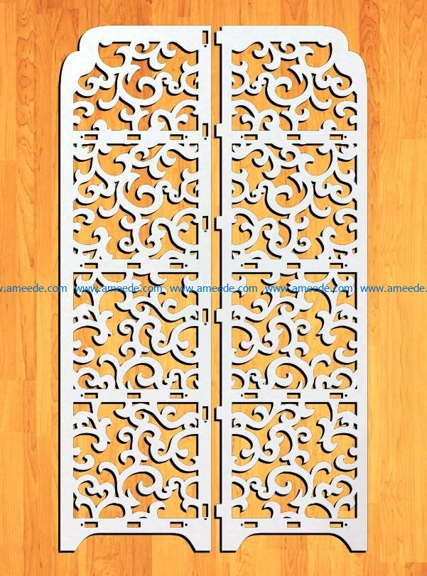 Design pattern panel screen E0009197 file cdr and dxf free vector download for Laser cut CNC