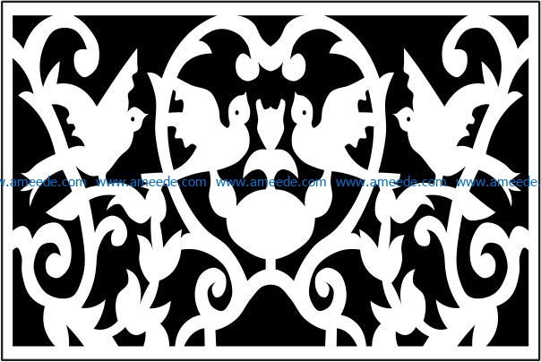 Design pattern panel screen E0009222 file cdr and dxf free vector download for Laser cut CNC