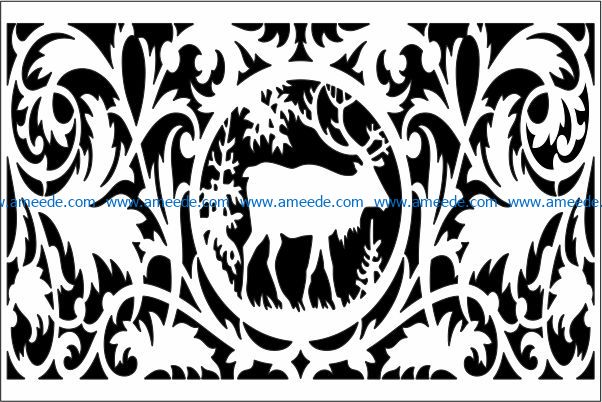 Design pattern panel screen E0009225 file cdr and dxf free vector download for Laser cut CNC