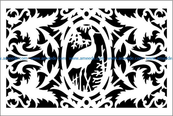 Design pattern panel screen E0009226 file cdr and dxf free vector download for Laser cut CNC
