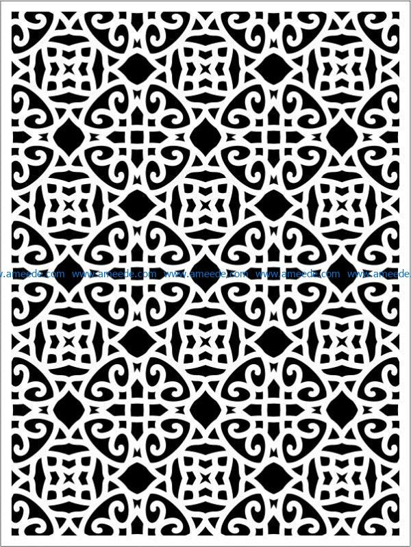 Design pattern panel screen E0009259 file cdr and dxf free vector download for Laser cut CNC