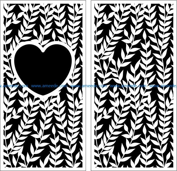 Design pattern panel screen E0009260 file cdr and dxf free vector download for Laser cut CNC