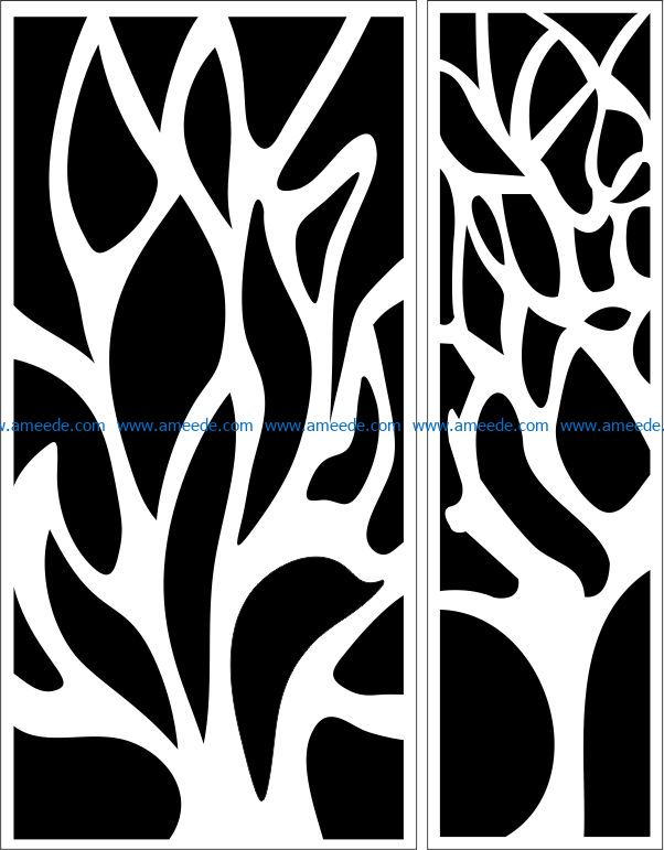 Design pattern panel screen E0009293 file cdr and dxf free vector download for Laser cut CNC